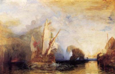 Nausicaa. Athéna, organisa la rencontre D'Ulysse et de son fils Télémaque, qui ne s'étaient pas vus depuis vingt ans.