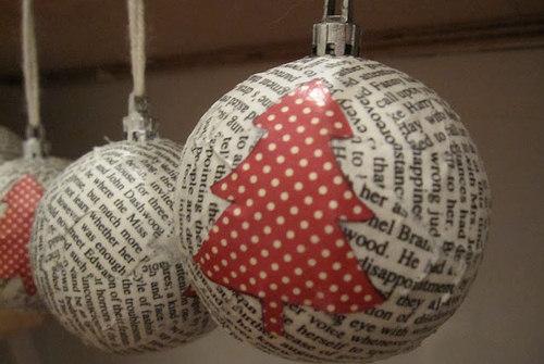 No l toi m me j 23 faire une boule en papier journal webzine caf du web - Boule de noel a fabriquer en polystyrene ...